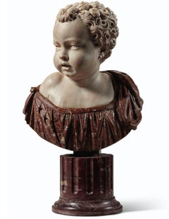 FRENCH OR ITALIAN SECOND HALF 16TH CENTURY MARBLE BUST OF A BOY