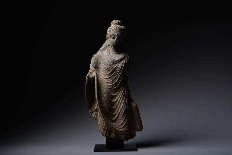 Gandharan Schist Statue of Buddha For Sale 1