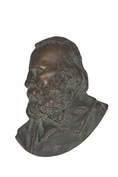 Garibaldi's Profile - Original Bronze Sculpture 19th Century