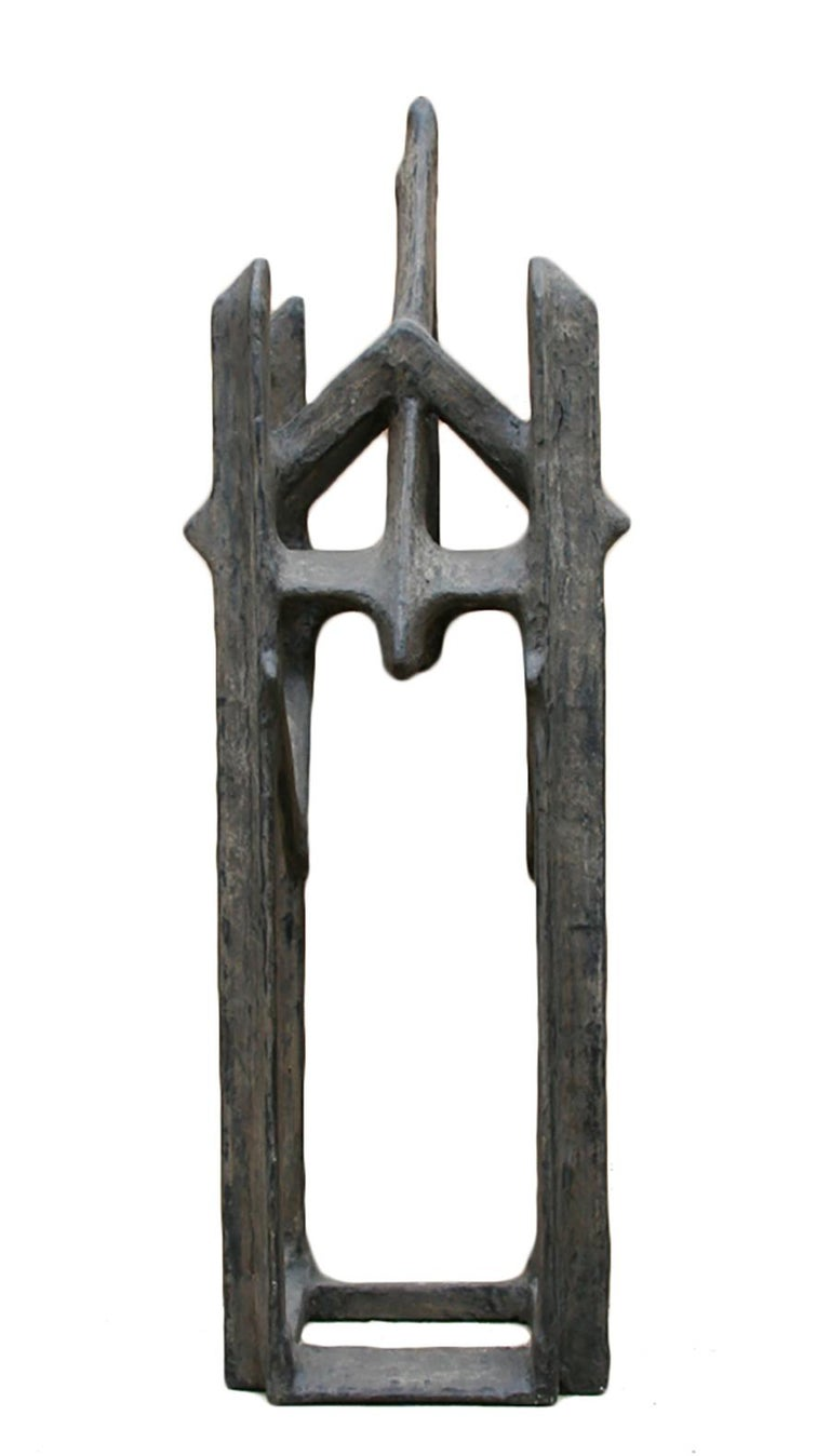 Geometric Abstract Tower Sculpture For Sale 1