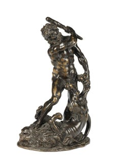 German artist, Hercules and the Nemean Lion, bronze, XVII cent.