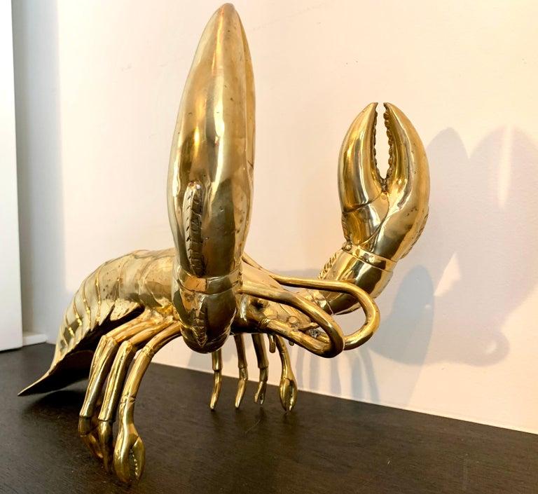 Golden Lobster - 19th century liberace style bronze pop art animal sculpture 6