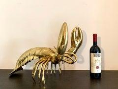 Golden Lobster - 19th century liberace style bronze pop art animal sculpture