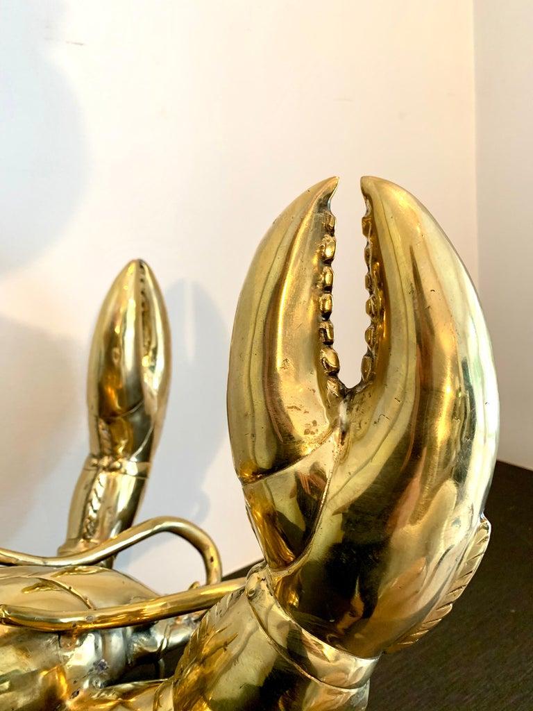 Golden Lobster - 19th century liberace style bronze pop art animal sculpture 4