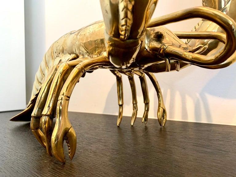 Golden Lobster - 19th century liberace style bronze pop art animal sculpture 5