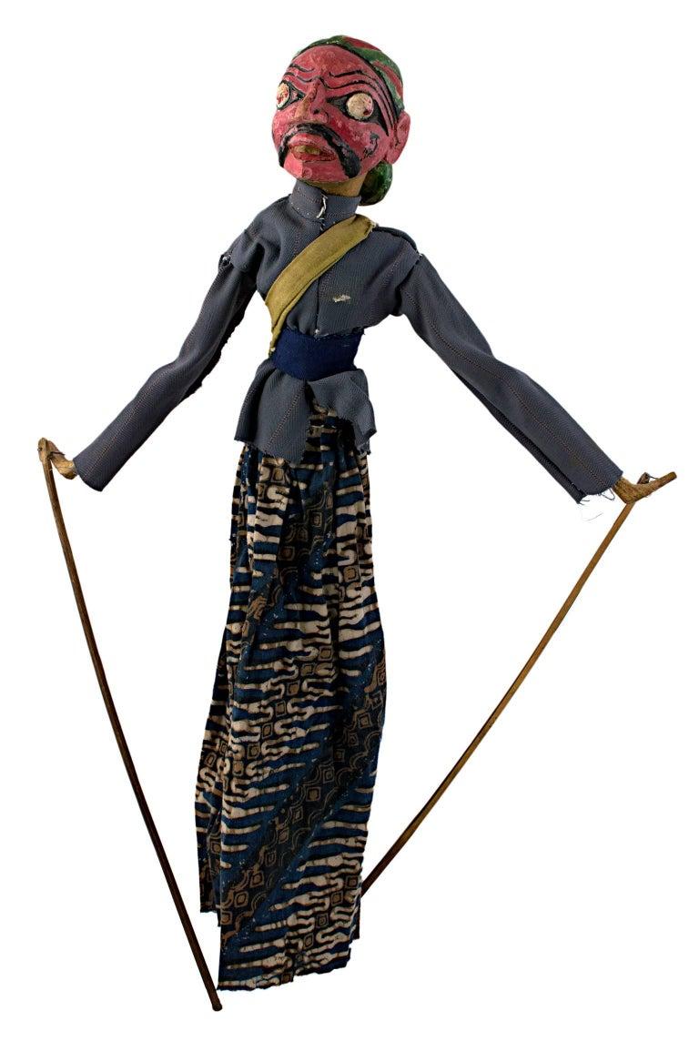 "Unknown Figurative Sculpture - ""Golek Puppet (Female),"" Wood & Cloth created by Indonesia circa 1900"
