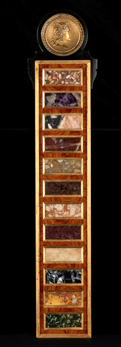 Grand Tour Collection Of Specimen and Rare Marble with Gold Bronze Sculpture