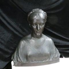 Guilty Bronze Lady Bust after W.Marsden