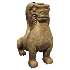 Hand Carved Foo Dog Table Base by Sarreid Ltd.