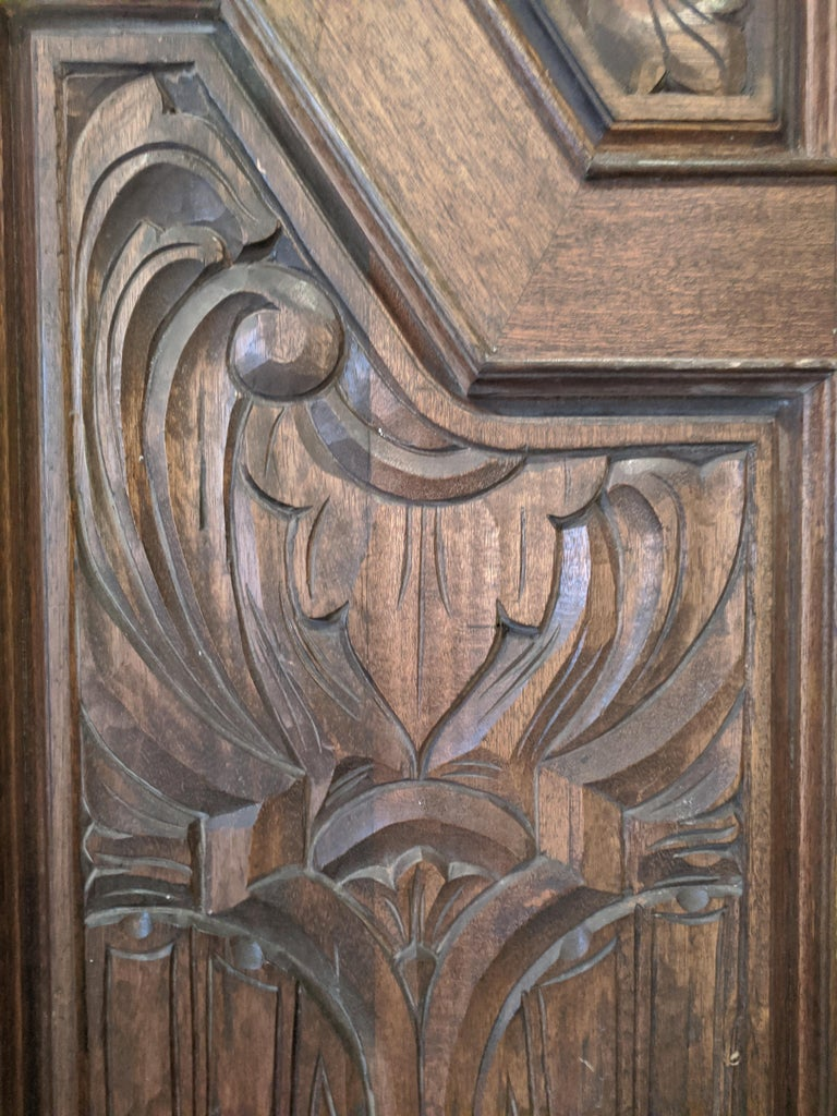 Hand Sculpted Wooden Doors For Sale 4