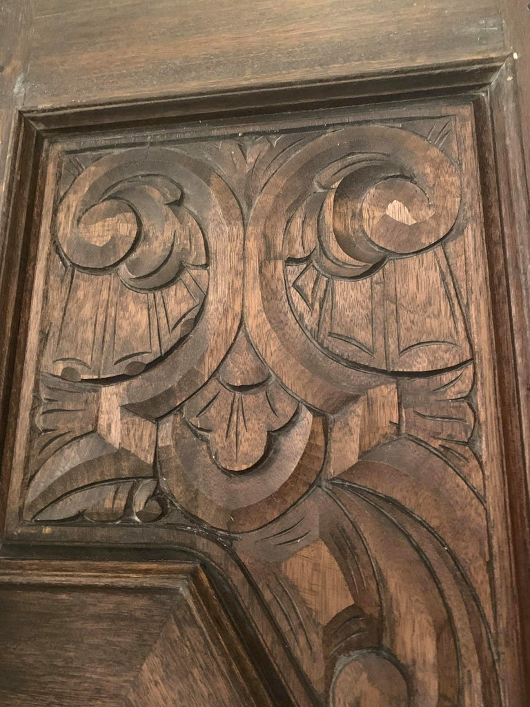 Hand Sculpted Wooden Doors For Sale 8
