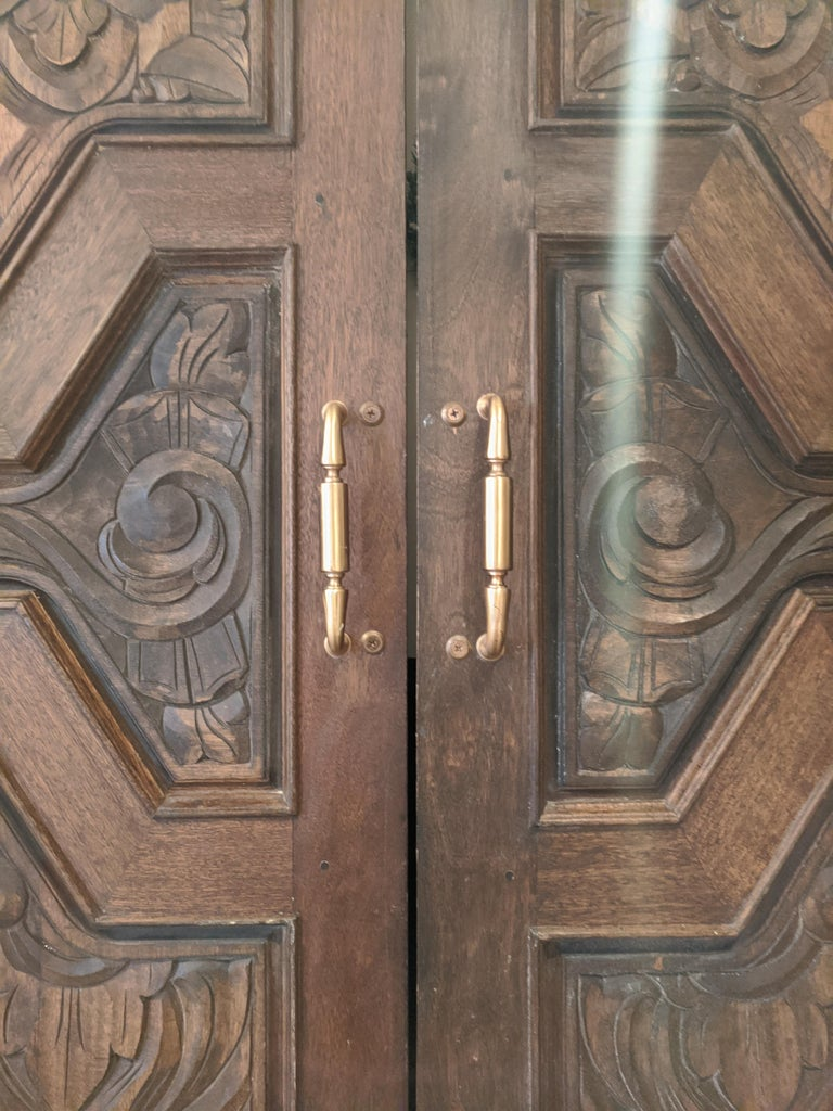 Hand Sculpted Wooden Doors For Sale 7