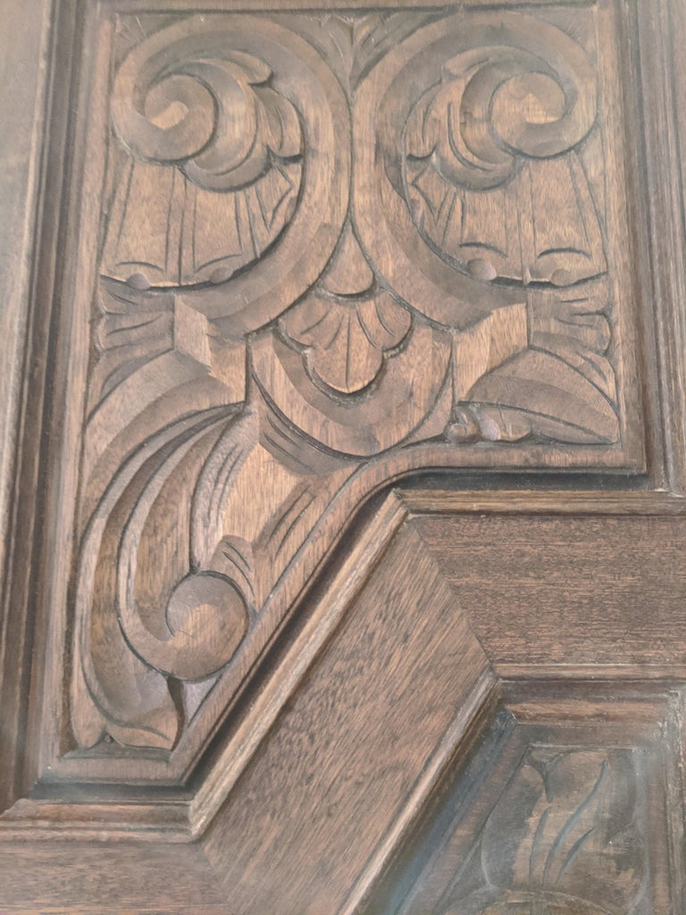 Hand Sculpted Wooden Doors For Sale 1