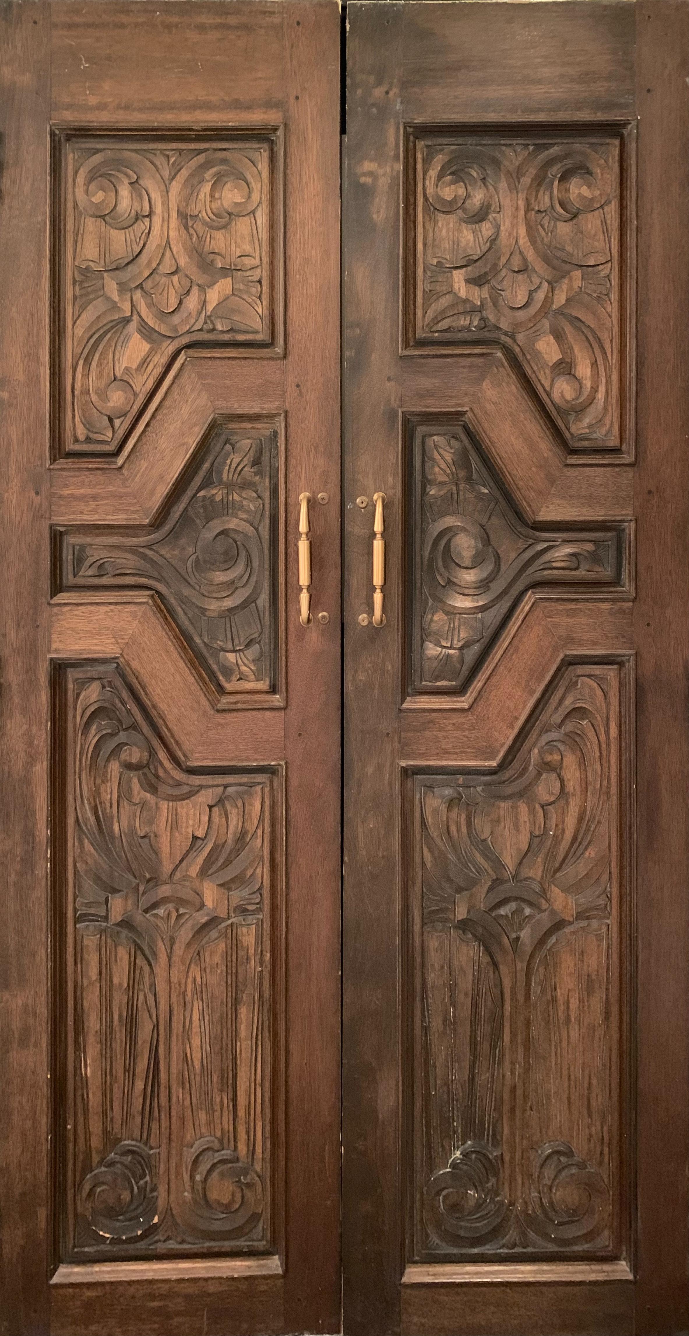 Hand Sculpted Wooden Doors