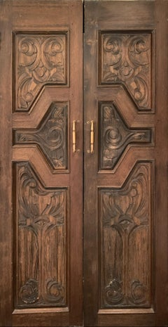 Hand Sculpted Wooden Doors