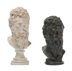 Head depicting Italian sculptor Ludovico Buonarroti called Michelangelo