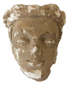 Head of a Youth ( Classical features with turban) Stucco