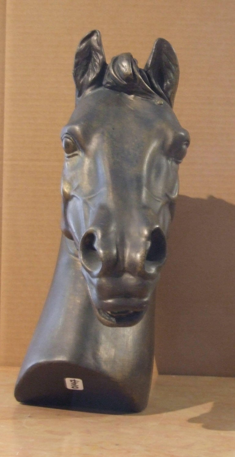 Head of horse - Naturalistic Sculpture by Unknown