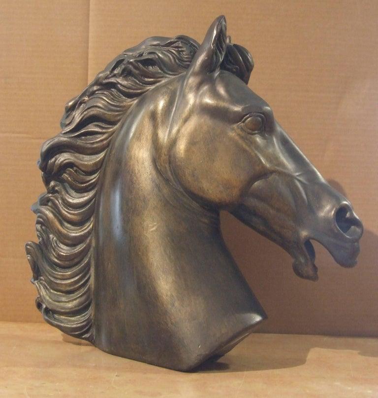 Unknown Figurative Sculpture - Head of horse