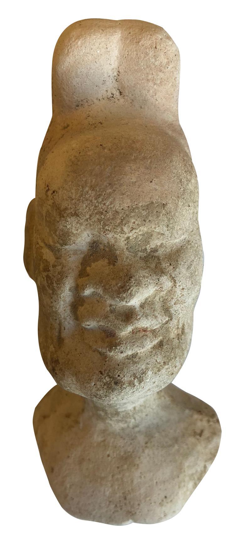 Head of Pazuzu - Rare Early Fragment - Mesopotamia - Circa 1000 BC - Sculpture by Unknown