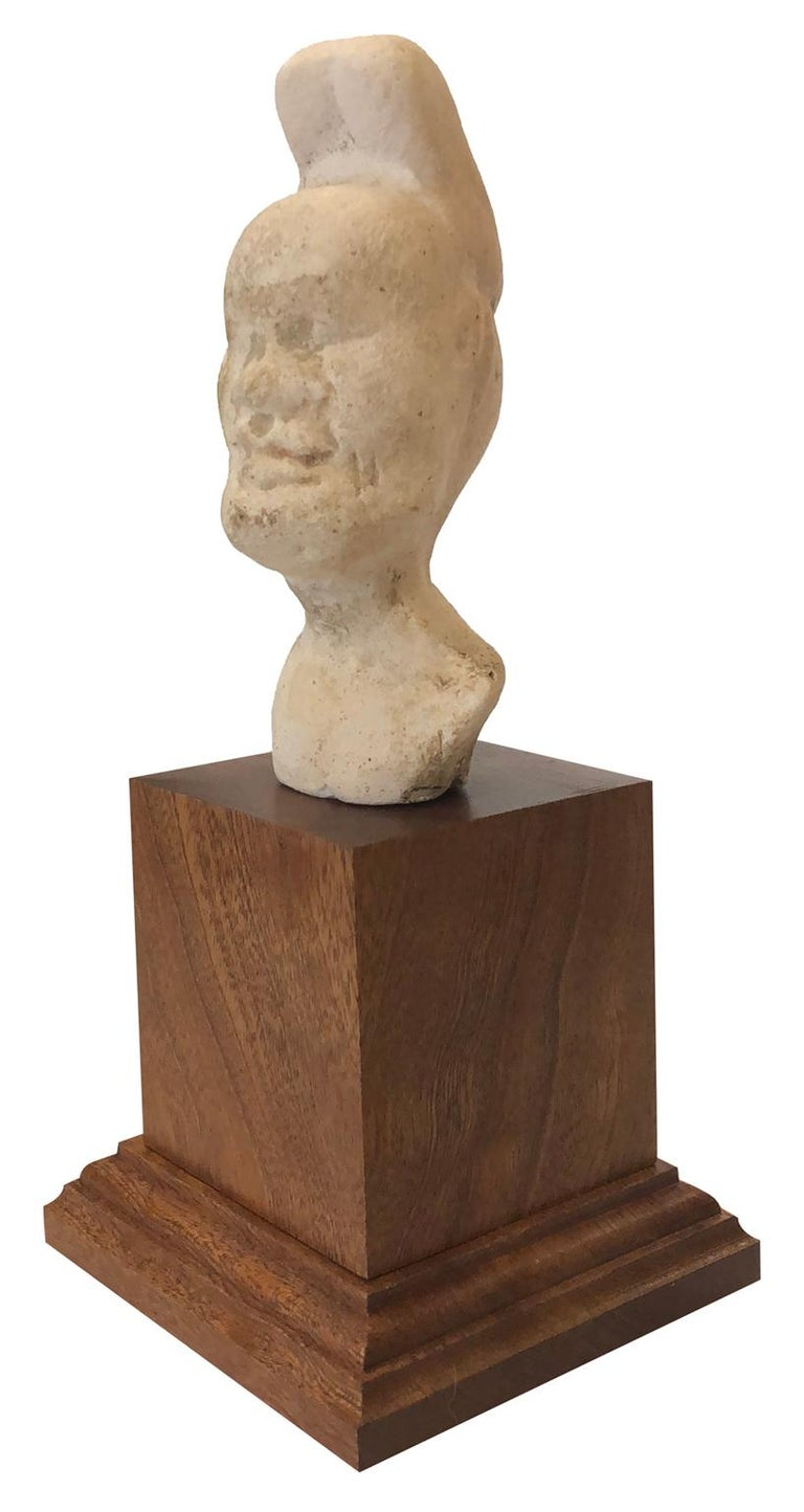 Head of Pazuzu - Rare Early Fragment - Mesopotamia - Circa 1000 BC - Brown Figurative Sculpture by Unknown