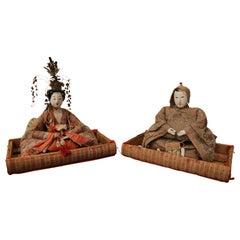 Hinamatsuri Festival Wooden Dolls of Princess and Prince