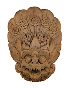 """Indonesian Garuda Head,"" Carved Wood created circa 1920"