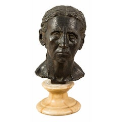 Italian Bronze Bust Sculpture, Italy, Early 19th Century, Empire Napoleon III