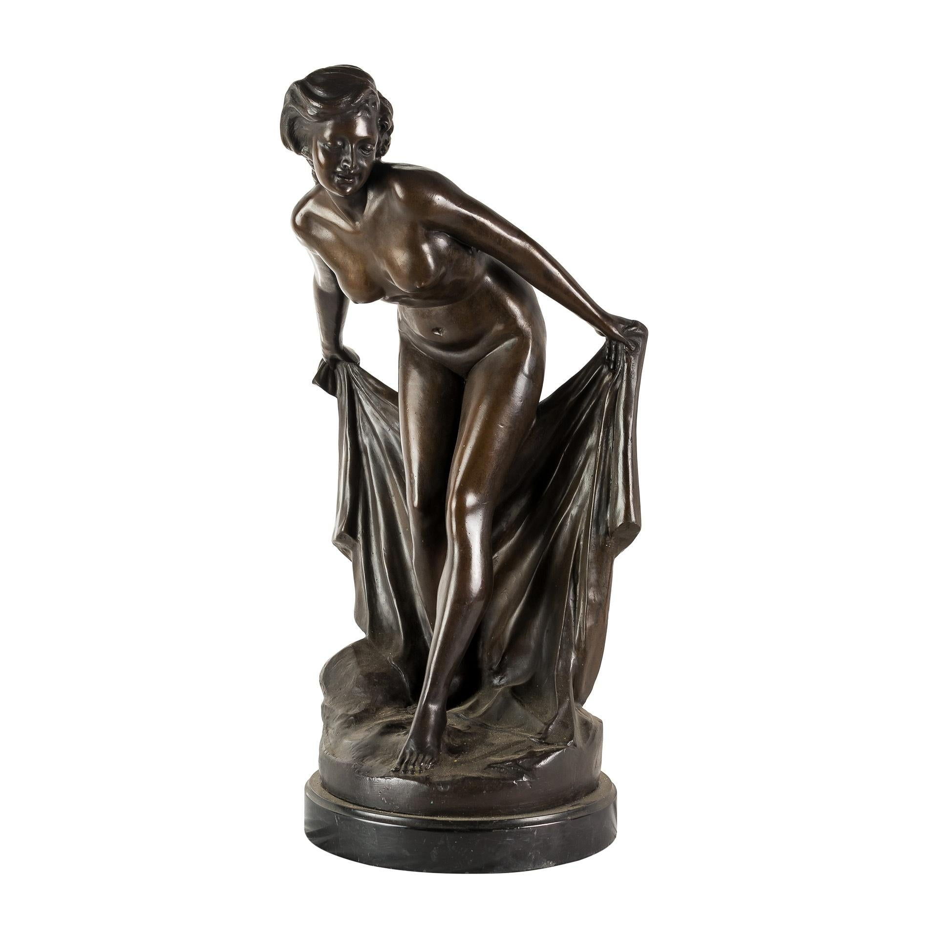 Italian Burnished Bronze Sculpture, Nude Venus, Italy, 19th Century