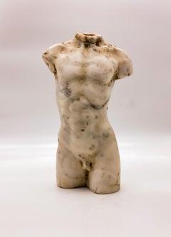 Italian Classical Roman Marble Sculpture Torso of Hermes After Praxiteles