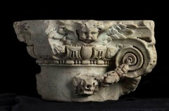 Italian Renaissance Ionic Marble Capital