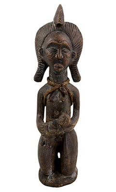 """Jokwe Maternity, Angola,"" Carved Wood created in Africa circa 1910"
