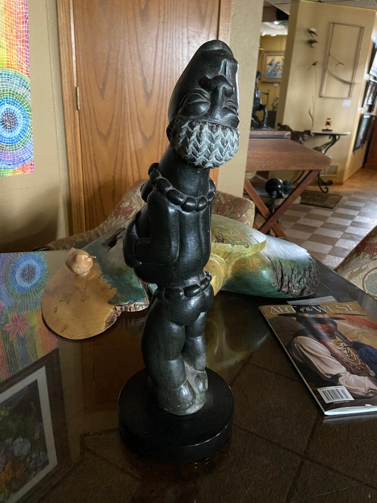 Joyful African Stone Carving For Sale 5