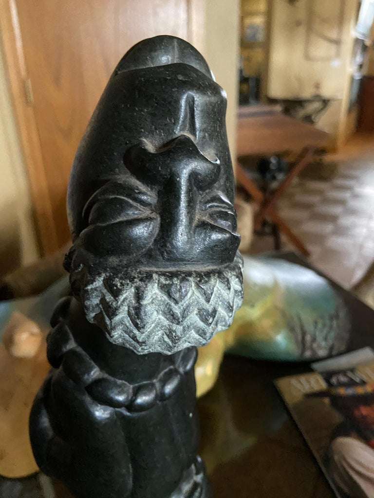 Joyful African Stone Carving For Sale 1