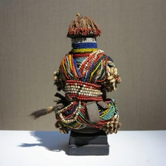Kirdi-Fali Fertility Figure, beaded African tribal sculpture, Cameroon Africa