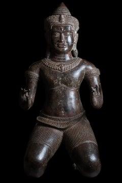 Kneeling Male Figure King Jayavarman VII 18th/19th century