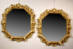 Large Mirrors Glass Gold Florence 18th Century Italy Art Baroque Louis XVI