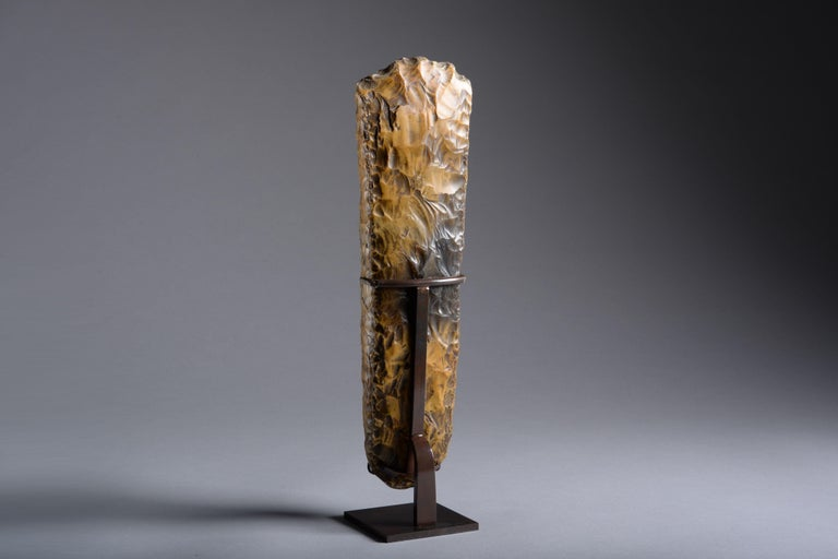 Large Neolithic Flint Axe from Sweden - Gray Abstract Sculpture by Unknown