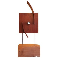 Large Organic Modern Wooden Industrial Sculpture