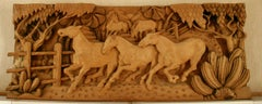 Large Scale Western Wood Sculpture