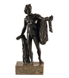 Late 18th century Italian bronze sculpture - Apollo Belvedere Italy Neoclassical