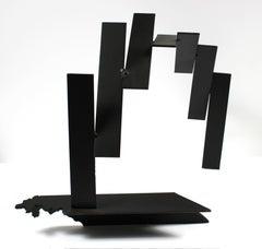 Late 20th Century Multi Media Metal Slanted Arch Sculpture