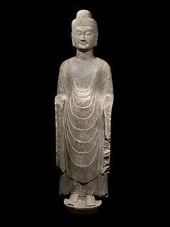 Limestone Standing Buddha