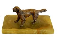 Little Dog; bronze on marble base