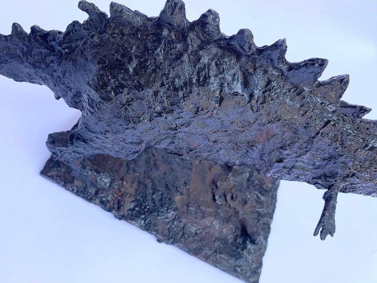 Long Brutalist Steel Dinosaur For Sale 3
