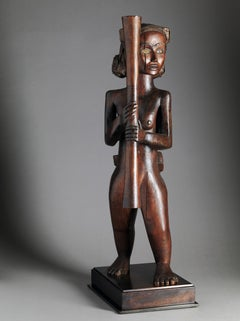 Mabea Mother and Child Sculpture from old French Collection