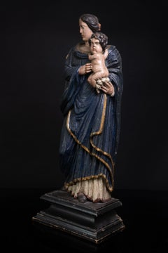 Madonna and Child, carved and polychrome wood, Early 18th C, South of France