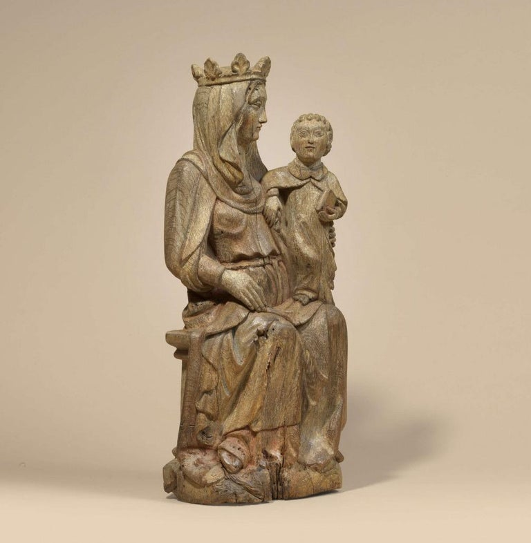Madonna with child - Sculpture by Unknown