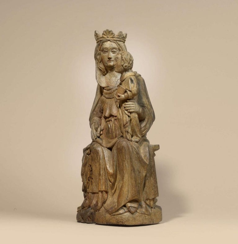 Madonna with child - Gothic Sculpture by Unknown