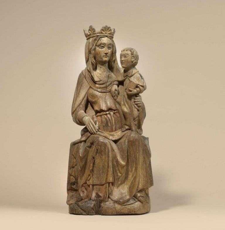 Unknown Figurative Sculpture - Madonna with child